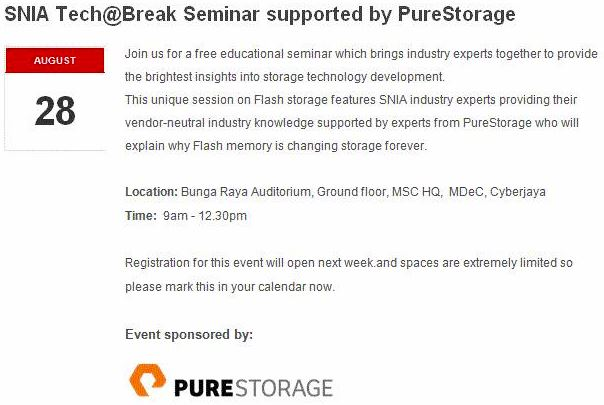 SNIA MY Tech@Break - Pure Storage Aug 28 2014
