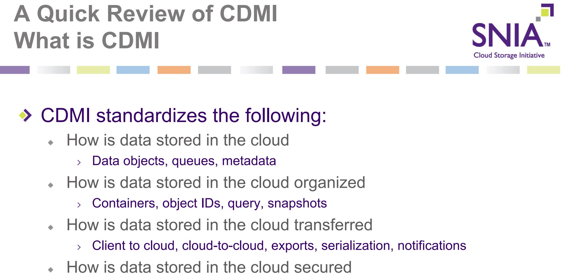 CDMI Quick Review